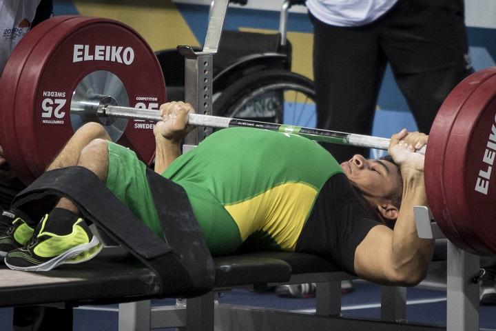 21/01/2016 - Rio de Janeiro, RJ, 2016 IPC Powerlifting World Cup - Arena Carioca 1 - João França. ©Daniel Zappe/MPIX/CPB